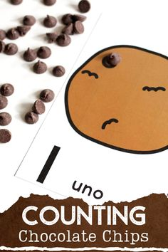 These FREE printable chocolate chip counting cards make math centers so much fun! Your students practice counting with these fun cookie counting cards, all you need is a bag of chocolate chips. Preschoolers and kindergarteners love counting to 10 when there is chocolate involved! Just don't eat all of the chocolate before you finish counting! #preschool #kindergarten #kindermath #kindergartenmath #preschoolmath #prek #prekmath #countingcards Educational Activities For Kids, Kids Learning, Learning Shapes, Preschool Activities, Make Chocolate Chip Cookies, Pumpkin Chocolate Chip Bread, How To Make Cookies, Fun Cookies, Spanish Chocolate