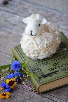 Wool Sheep needle felted by Teresa Perleberg of Bear Creek Felting