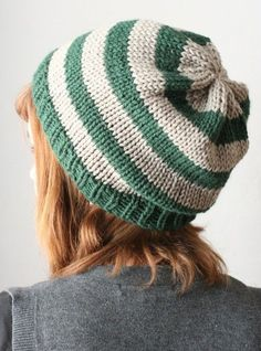 Must make for Casey in Crochet!'  Slytherin slouchy hat