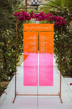 Desert Romance Palm Springs Wedding Our favorite people seating chart. Such a cool idea! Seating Chart Wedding, Wedding Table, Our Wedding, Dream Wedding, Wedding Desert, Wedding Notes, Seating Charts, Palm Springs, Wedding Signage