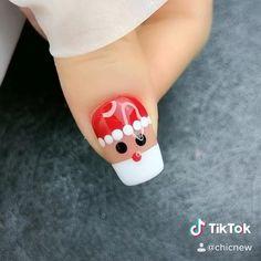 Hello December. #diy #nails #nailart #christmas Nail Art Designs Videos, Nail Art Videos, Nail Designs, Xmas Nail Art, Christmas Gel Nails, Nail Polish, Gel Nail Art, Classy Nails, Simple Nails