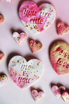 Sweetheart Marble Fondant Cookies