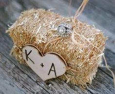 hay wedding favor/ decoration