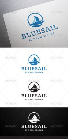 Blue Sail  - Logo Design Template Vector #logotype Download it here: http://graphicriver.net/item/blue-sail-logo/5448919?s_rank=231?ref=nexion