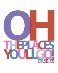 """CUSTOM Personalized """"Oh The Places You'll Go"""" graduation gift typography print - 8x10 inches"""