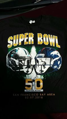 Super Bowll 50 T-shirt Carolina Panthers Vs Denver #Denver For The Big Game!! Xl from $16.75
