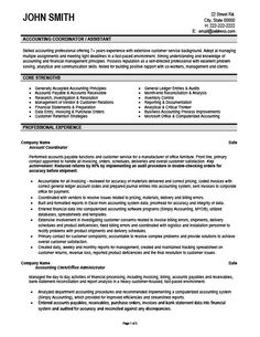 Accounting Coordinator Resume Template | Premium Resume Samples U0026 Example  Cpa Resume Examples