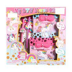 Girls Rainbow Unicorn BFF Secret Journal Kit 711996954 Kits For Kids, Fun Crafts For Kids, Diy Arts And Crafts, Craft Stick Crafts, Activities For Kids, Rainbow Unicorn, Unicorn Party, Project Mc Square, Barbie Bike