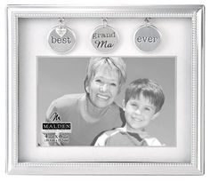 Malden International Designs Charming Metals Grandma Metal Charms Picture Frame, Silver *** You can find out more details at the link of the image. (This is an affiliate link and I receive a commission for the sales) Family Picture Frames, Family Pictures, Good Ma, Charms, Silver Metal, Link, Metals, Image, Design