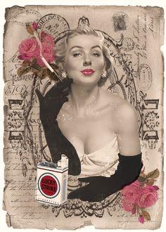 JanetK.Design Free digital vintage stuff: Ik ben het aan jullie verplicht... Pin Up Vintage, Shabby Vintage, Vintage Ephemera, Vintage Beauty, Vintage Paper, Vintage Ads, Vintage Images, Vintage Posters, Vintage Stuff