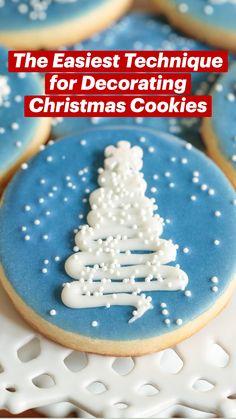 Christmas Cookies Kids, Classic Christmas Cookie Recipe, Easy Christmas Cookie Recipes, Christmas Sweets, Christmas Chocolate, Christmas Baking, Xmas, Christmas Lunch, Holiday Cookies