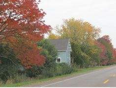 Hwy 12 from Sandbanks Provincial Park in Prince Edward County, Ontario