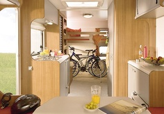 Interior of an Airstream