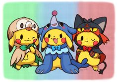 pokemon pikachu starters capes