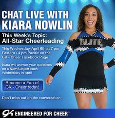 My cheer idol Kiara Nowlin
