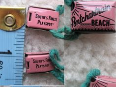 Throughout it's history, the Beach offered many promotions designed to draw patrons. Pay-One-Price was a popular promotion during the era when the park was trying to boost attendance after instituting it's gate admission charge. The wrist bands shown served as proof-of-purchase of beach admission in the pay-one-price promotion.