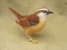 Carolina Wren needle felted bird made to oorder von Ainigmati