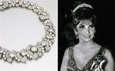 Gina Lollobrigida and her Bulgari diamond necklace/tiara