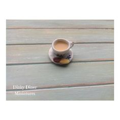 Miniature 1:12 Scale Food - Cup of Tea With a Biscuit by DinkyDinerMinis
