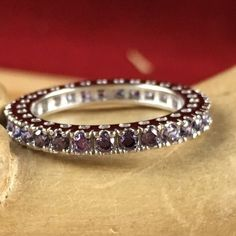 2 ct Genuine Amethyst 925 Sterling Silver Eternity Wedding Band Ring SD SD9RC105104-AM. Starting at $1