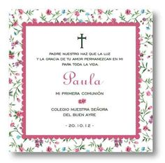 tarjetas bautismo y comunión estampitas souvenirs - 24 u. Ideas Para, Paper, Invitation Cards, First Holy Communion, Free Market, Elephants, Closets, Christening