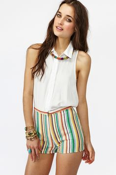 Fruit Striped Shorts http://www.nastygal.com/collections%5Fstar%2Dstruck/fruit%2Dstriped%2Dshorts#