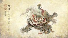 螭吻 Chī Wěn. The 9th song of dragon, A mix between dragon and fish. often appears on the roof top of the ancient architectures in China.