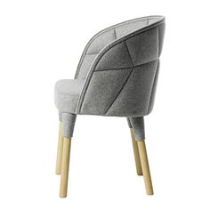 Swedish-French design duo Färg & Blanche has created a small padded chair for Swedish furniture brand Gärsnäs.