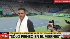 La broma de Del Potro a los periodistas argentinos en Croacia