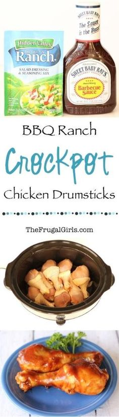 Crockpot BBQ Ranch Chicken Drumsticks Recipe! ~ from TheFrugalGirls.com ~ this Easy Slow Cooker dinner recipe makes for the BEST barbecue chicken legs! #slowcooker #recipes #thefrugalgirls by isabelle