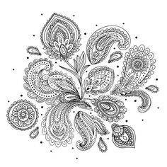 Beautiful Indian paisley ornament royalty-free stock vector art
