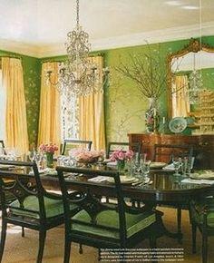 dining room - using greens