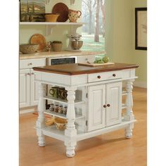 Shop For Home Styles Americana Antiqued White Kitchen Island. Get Free  Delivery At Overstock.
