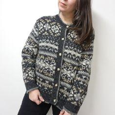 Vtg 90s SKYR Gray Wool Blend Cardigan Sweater Womens L  Skyr  CardiganSweater  Cardigan Sweaters 7a09748a2