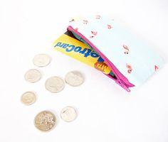 FLAMINGO COIN POUCH. Small Coin Purse. Small Money Wallet.