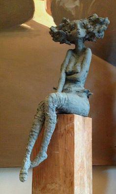 Valerie Hadida - seated figure