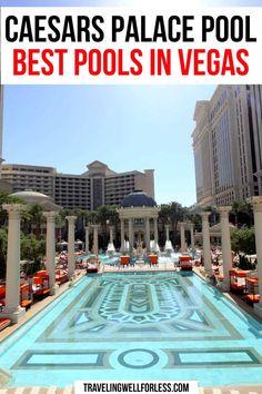 Best Pools In Vegas, Vegas Pools, Usa Travel Guide, Travel Usa, Travel Guides, Travel Tips, South America Travel, North America, Caesars Palace