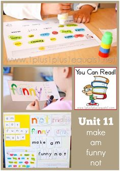 You Can Read Sight Words Unit 11 in action ~ a peek at learning sight words in homeschool Kindergarten
