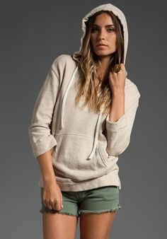 JAMES PERSE Baja French Terry Poncho in Natural at Revolve Clothing - Free Shipping! - StyleSays
