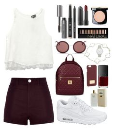 """red-a"" by intanrpratiwi on Polyvore featuring River Island, Wet Seal, NIKE, Bobbi Brown Cosmetics, Chanel, Forever 21, Love Moschino, The Row, Kate Spade and Van Cleef & Arpels"