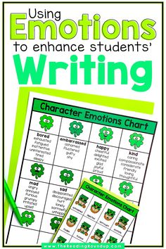 Character Emotions Charts don't just help improve students' reading comprehension, they can also enhance their writing. Students can increase their vocabulary using the emotions charts as they learn synonyms for commonly used emotion words. The printable anchor charts can be displayed in an elementary classroom or in students' writing notebooks. Find other easy and fun ideas for incorporating this tool into your Writing Workshop! #thereadingroundup #anchorcharts… Vocabulary Instruction, Vocabulary Activities, Third Grade Reading, Guided Reading, Writing Strategies, Writing Skills, Reading Resources, Reading Activities, Creative Writing Stories