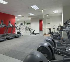 Hilton Long Beach fitness center.