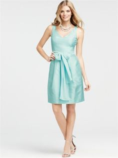 V-neckline A-line with Chiffon Sash Knee Length Homecoming Dress HD1543 www.homecomingstore.com $116.0000