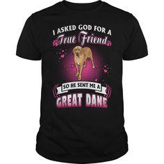 Great Dane True Friend - 5.3 oz., pre-shrunk 100% cotton #Great Dane #Great Daneshirts #iloveGreat Dane # tshirts