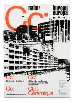 "Club Céramique Poster. May 16th, 2012.  By: Antonio Carusone. This is a poster designed by the folks at Experiment Jetset for an exhibition titled ""Club Céramique"" by NAiM/Bureau Europa."