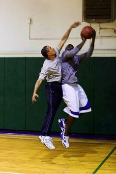 Michael Jordan & Barack Obama