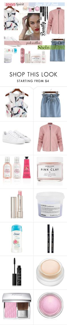 """""""Shein : Teen Spirit"""" by lifeisworthlivingagain ❤ liked on Polyvore featuring adidas, Helmut Lang, Crabtree & Evelyn, Herbivore, By Terry, Davines, Dove, NARS Cosmetics, Christian Dior and MAC Cosmetics"""