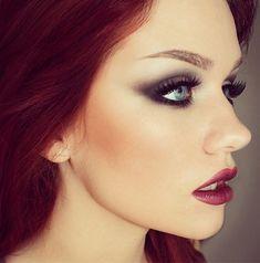 redhead 'bond girl' makeup