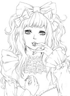 Anime-Manga Coloring. Saucy Lolita by tsulala.deviantart.com on @DeviantArt