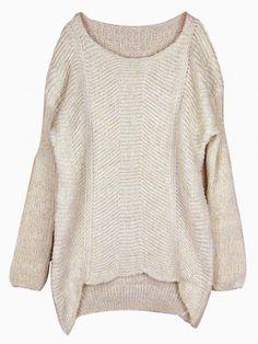 985fec7f1c Metallic Beige Knit Sweater  jumper  knitted  warm  winter  comfy Warm  Sweaters